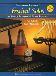 Standard of Excellence: Festival Solos, Book 2 for Baritone T.C. by Bruce Pearson & Mary Elledge (Book/CD Set)