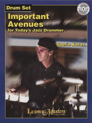 Important Avenues for Today's Jazz Drummer for Drum Set by Sperie Karas (Book/CD Set)