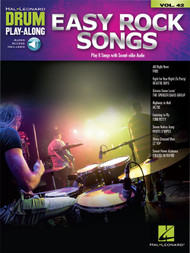 Hal Leonard Drum Play-Along Vol. 42 - Easy Rock Songs (with Audio Access)