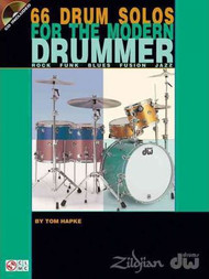 66 Drum Solos for the Modern Drummer by Tom Hapke (Book/CD Set)