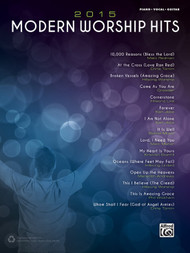 2015 Modern Worship Hits for Piano / Vocal / Guitar