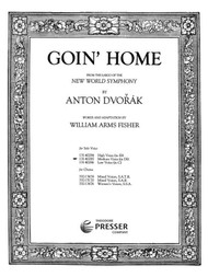 Dvorak - Goin' Home Single Sheet in D-flat for Medium Voice Solo
