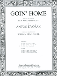 Dvorak - Goin' Home Single Sheet in C for Low Voice Solo