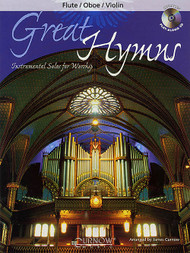 Great Hymns Instrumental Solos for Worship (Book/CD Set) for Flute / Oboe / Violin