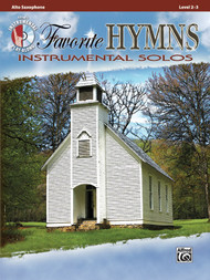 Alfred's Instrumental Play-Along - Favorite Hymns Instrumental Solos, Level 2-3 (Book/CD Set) for Alto Saxophone