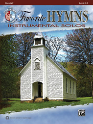 Alfred's Instrumental Play-Along - Favorite Hymns Instrumental Solos, Level 2-3 (Book/CD Set) for Horn in F