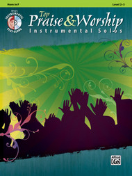 Alfred's Instrumental Play-Along - Top Praise & Worship Instrumental Solos, Level 2-3 (Book/CD Set) for Horn in F
