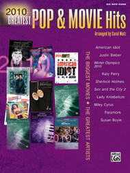 2010 Greatest Pop & Movie Hits in Big-Note Piano