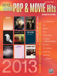 2013 Greatest Pop & Movie Hits in Big-Note Piano