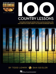 100 Country Lessons (Book/CD Set) for Intermediate to Advanced Piano