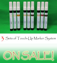 Three Sets of Furniture Touch Up Markers System - 9 markers