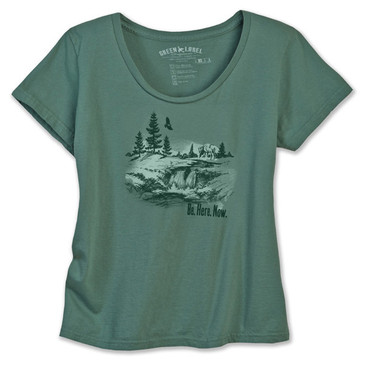 Women's Classic Scoop - Be Here Now Sea Green