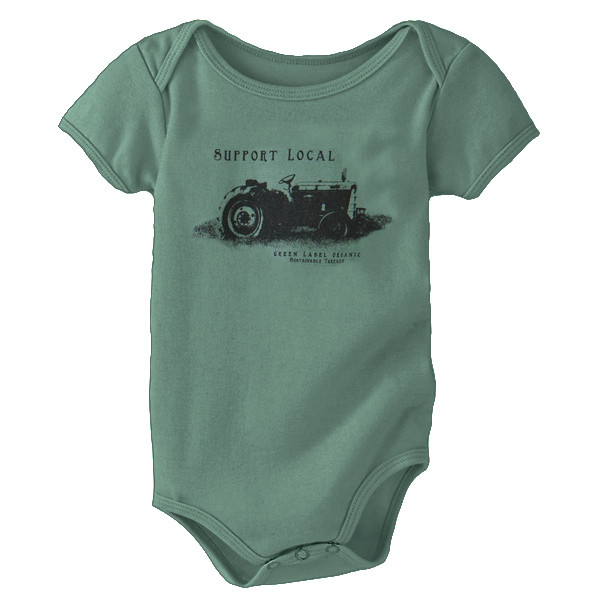 Infant Onesie Support Local Sea Green
