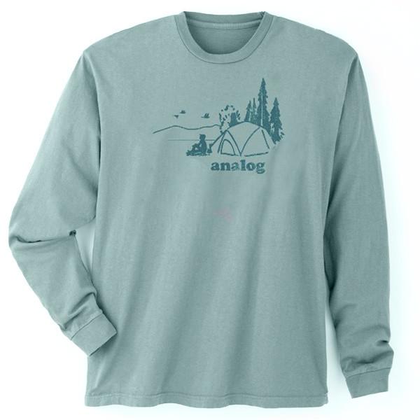 Men's Long Sleeve T Shirt - Analog Silver Spruce XXL