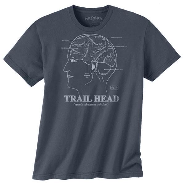 Men's Organic Cotton T-Shirt Trail Head Soft Black