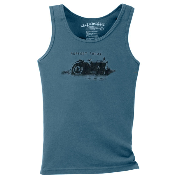 Women's Slim Tank Support Local Blue Star