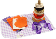 Mini Stacking Hoops set - now supplied in a cotton (not gingham) bag