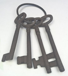 Set of Cast Iron Keys