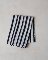 Baby Swaddle Ink Stripe
