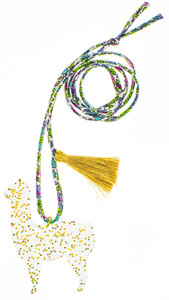 Goldie the Alpaca Necklace
