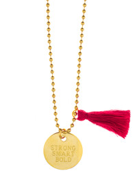 Girls Inc Strong Smart Bold Necklace