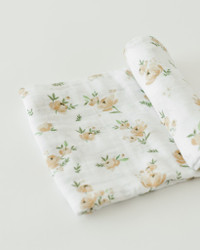 Baby Swaddle Yellow Rose