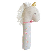 Yvette Unicorn Squeaker- Blush and Gold