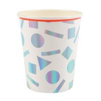 Rainbow Confetti Cups