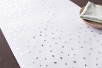 Snow Dot Silver Foil Pressed Table Runner