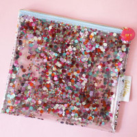 The Everything Pouch- Multi Confetti