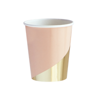 Pink paper cup