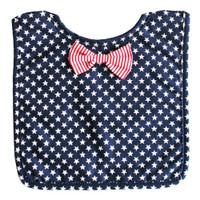 Bow Tie Bib- Navy Star