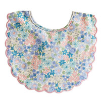 Scallop Bib- Liberty Blue