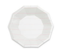 Frenchie Striped Small Plate- Blush