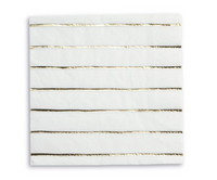 Frenchie Metallic Striped Napkin- Gold Foil