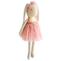 Linen Pearl Cuddle Bunny- Blush