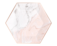 Marble Blush Paper Plates- Large