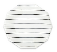 Frenchie Striped Large Plate- Ink