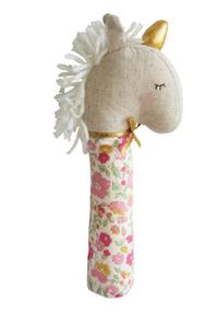 Yvette Unicorn Squeaker- Rose Garden