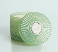 Mint Faceted Jar Volcano Candle- 11oz