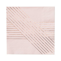 Amethyst Pale Pink Striped Lunch Paper Napkins
