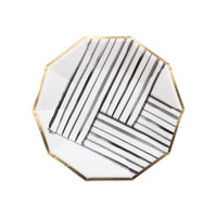 Rebelle Black and White Paper Plate- small