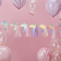 Make A Wish Iridescent Unicorn Tassel Garland