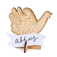 Wooden Turkey Placecard Holders