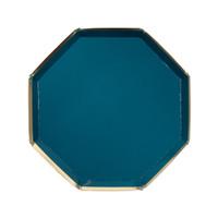 Dark Green Octagonal Plates- Small