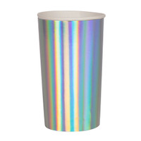 Silver Holographic Highball Cups