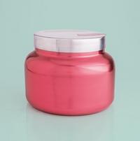 Pink Peppermint Metallic Pink Signature Jar Candle- 19oz
