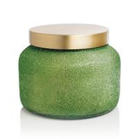 Alpine Juniper Green Glitter Jar Candle- 19oz