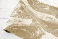 Marbled  Table Runner- Gold