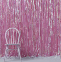 Iridescent Foil Fringe Curtain